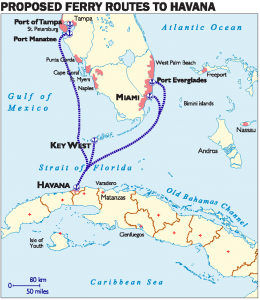 Armando Ferry route map