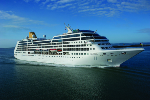 One of the smallest vessels in Carnival's 100-ship armada: The MV Adonia
