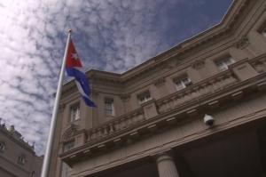 Cuba flag embassy