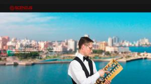 Screenshot from the Scenius website