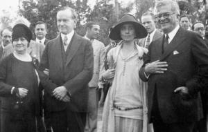 The last time a U.S. president was in Cuba: 1928, Calvin Coolidge, l., meets Cuban President Gen. Gerardo Machado