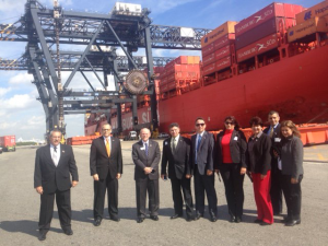 Cuban delegation at Port Everglades