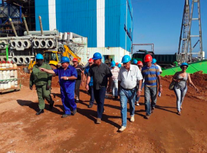 Vice President Miguel Díaz-Canel tours the Guiteras power plant
