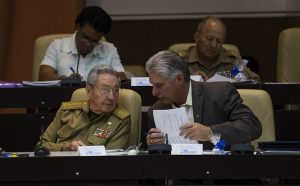 Raúl Castro, Miguel Díaz-Canel during the assembly session. Photo: Irene Pérez/Cubadebate