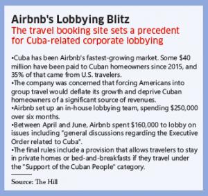 Airbnb lobbying box