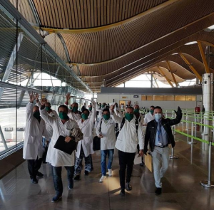 Cuban doctors, en route to Andorra